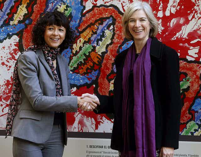 Picture of Emmanuelle Charpentier and Jennifer Doudna.