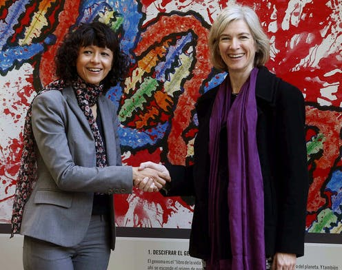 Chemistry Nobel 2020 prize winners Emmanuelle Charpentier and Jennifer A. Doudna.