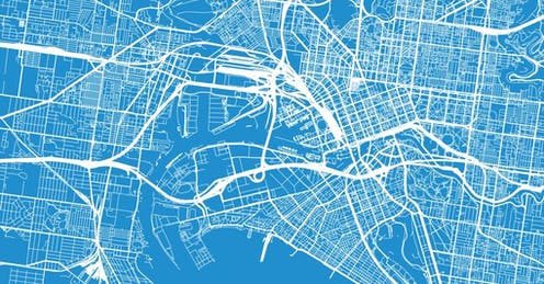 Bluprint map of Melbourne
