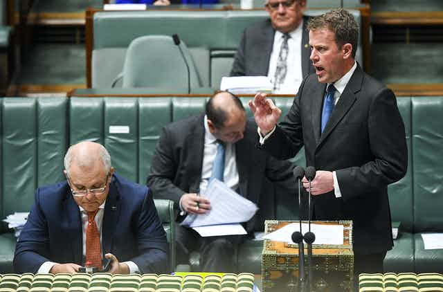 Minister speaking in federal parliament