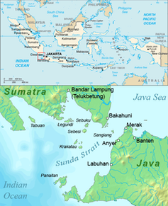 Map of Krakatoa.