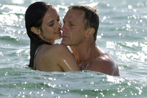 Eva Green with Daniel Craig in the 2006 James Bond film Casino Royale