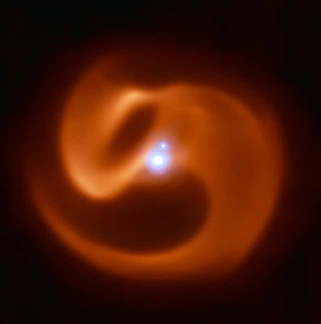 Image of the Apep binary star system in the Milky Way.