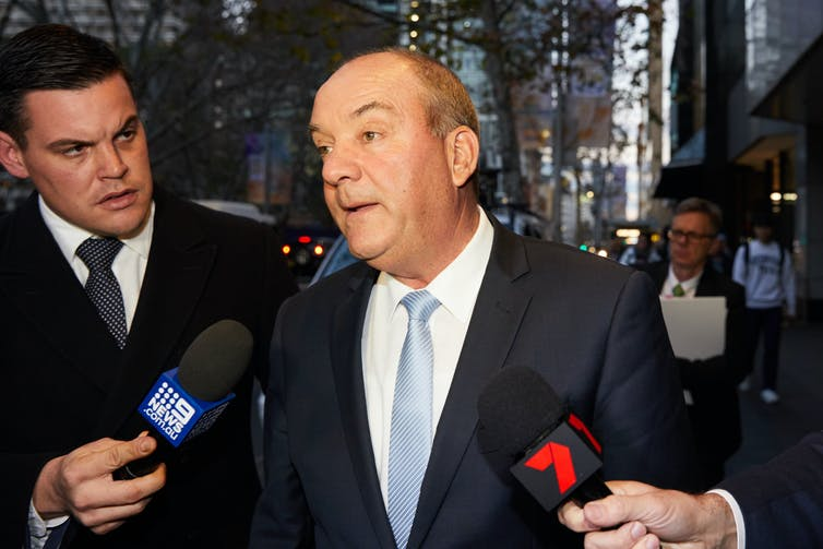 Daryl Williams leaving an ICAC hearing in 2018.