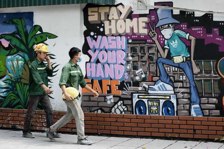 Graffiti saying