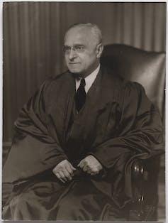 A portrait of Supreme Court Justice Felix Frankfurter.