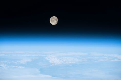 Picture of the Moon above the Earth's atmosphere