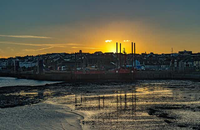 Sunset at Holyhead, Wales