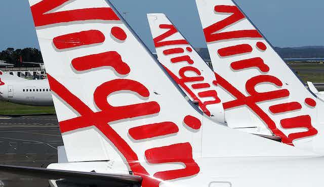 Virgin Australia aircraft tails