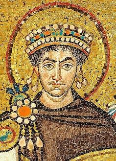 Mosaic of ancient ruler Justinian