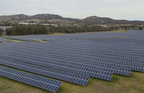 Mugga Lane solar park south of Canberra