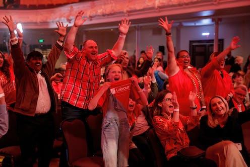 people cheering
