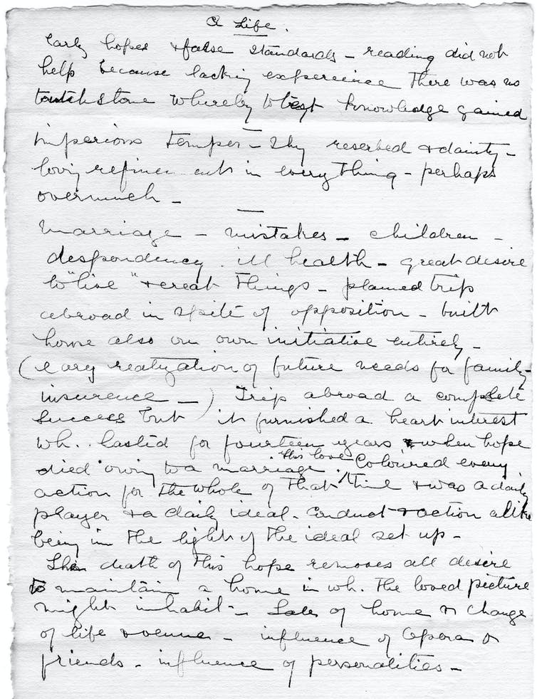 A fragment from Bryant's letters