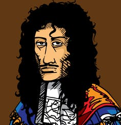 Charles II cartoon