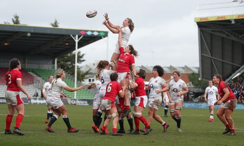 A women's rugby match