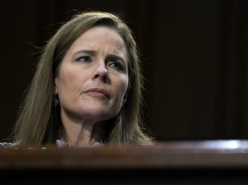 Supreme Court nominee Amy Coney Barrett testifies during her confirmation hearings