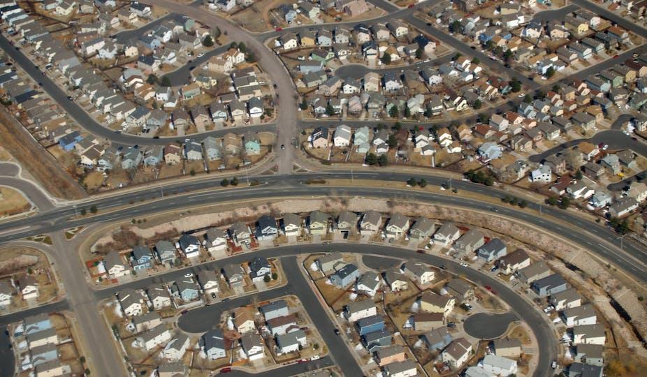 Des lotissements du nord-est de Colorado Springs, dans le Colorado
