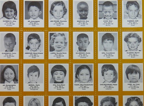 Old profile photos of children