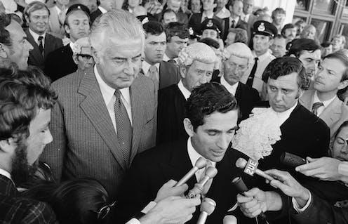 Prime Minister Gough Whitlam is dismissed on November 11 1975
