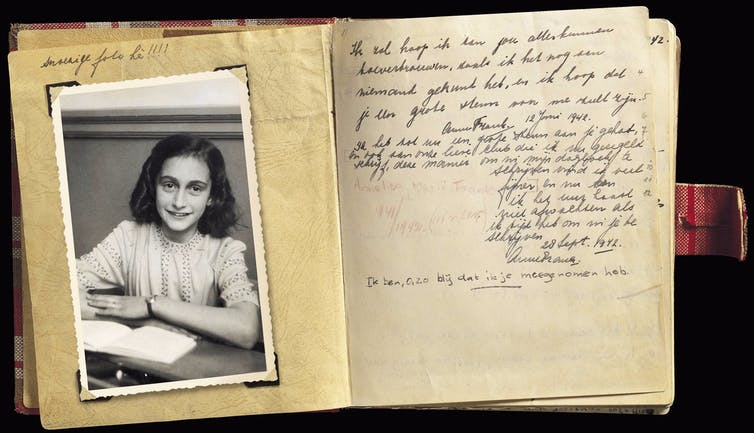 Photograph of Anne Frank's diary