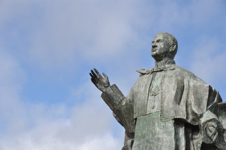 A statue of Pope Paul VI