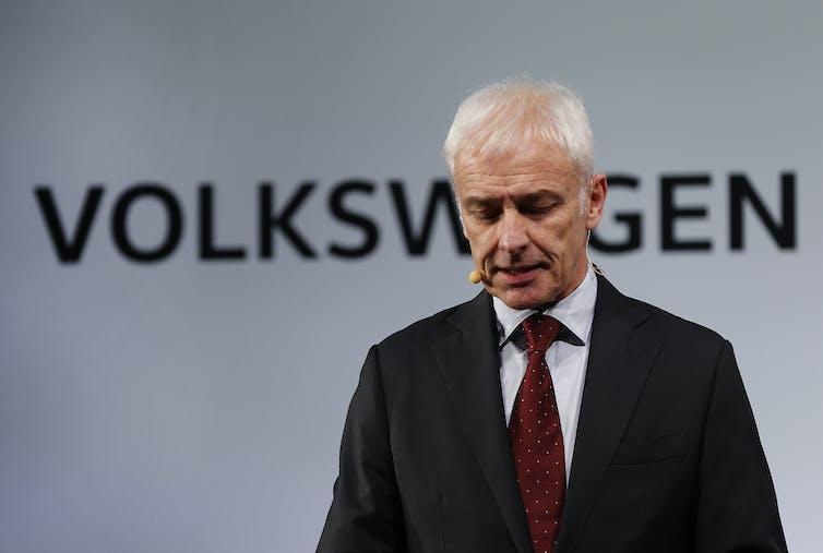Volkswagen CEO Mattias Muller.