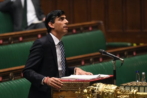 Chancellor Rishi Sunak addressing the House of Commons