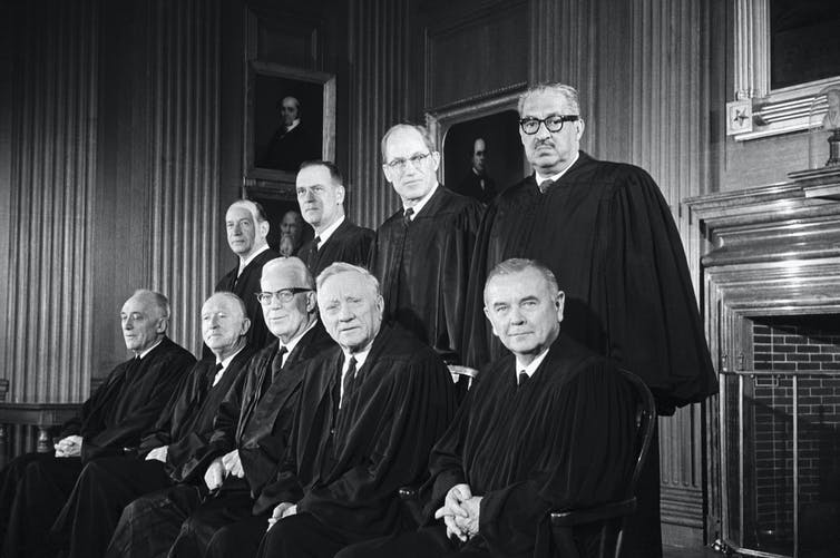 Members of the Supreme Court in 1967