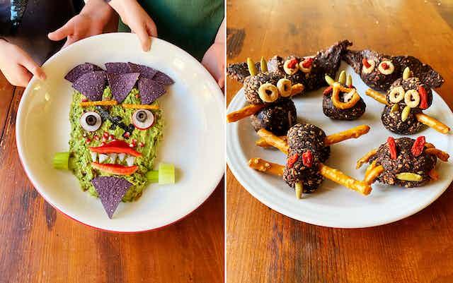 Healthy Halloween treats.