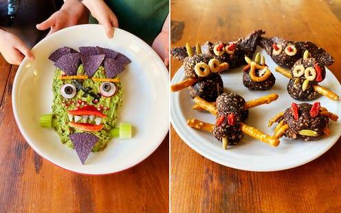 Healthy Halloween treats.