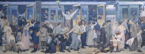 Peinture de Albert Herter commémorant la Grande Guerre
