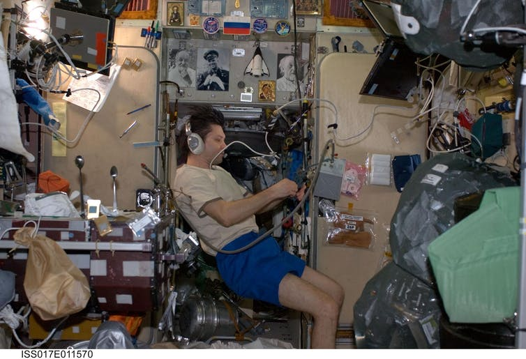 20 years of the International Space Station: Oleg Kononenko in the Zvezda module in 2008