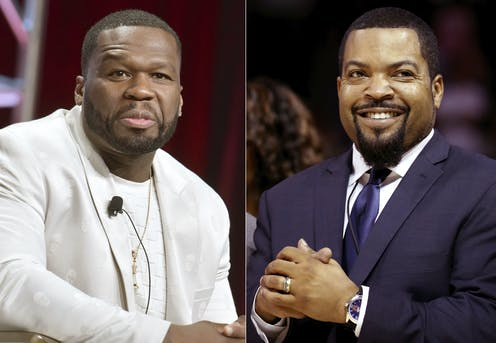 Rappers 50 Cent and Ice Cube