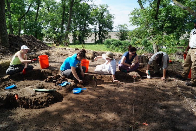 outdoor archaeological dig