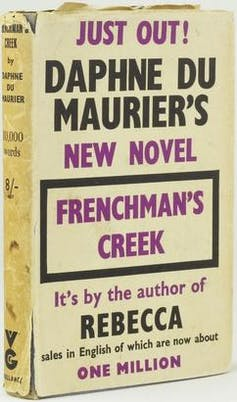 Book jacket of Frenchman's Creek.