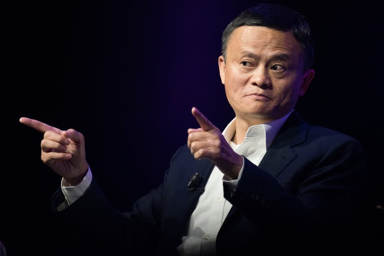 Jack Ma giving a presentation