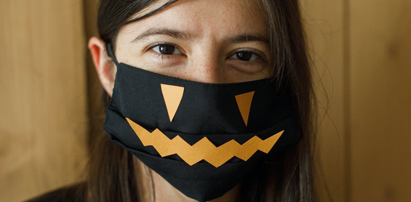 From scary pumpkins to bridal bling, how masks are becoming a normal part of our lives in Australia