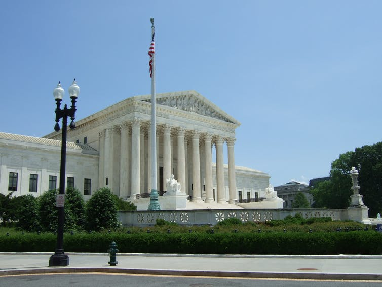 The US Supreme Court building in Washington.
