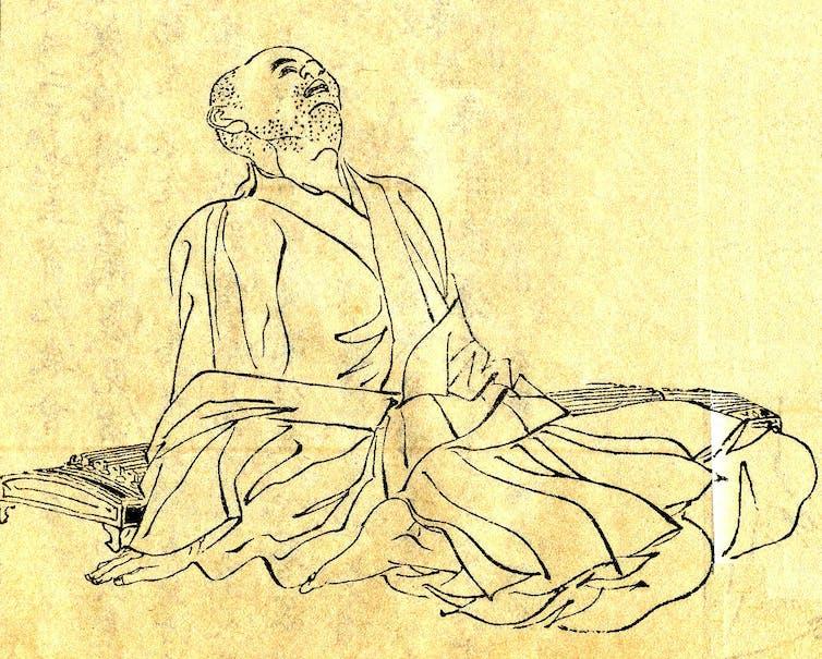 Japanese illustration of the scholar Kamo no Chomei.