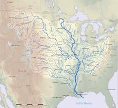 Map of Mississippi River basin