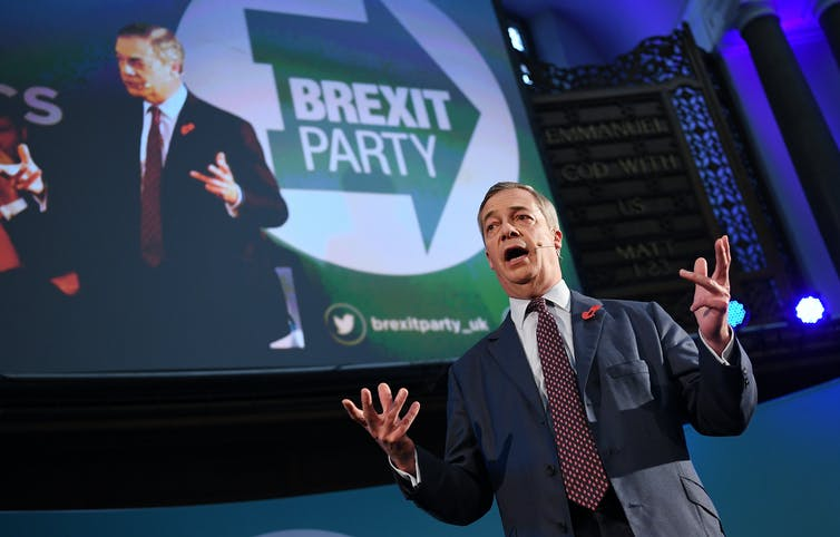 Former leader of the UK's Independence Party, Nigel Farage
