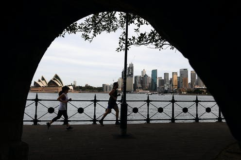 Two joggers in Sydney