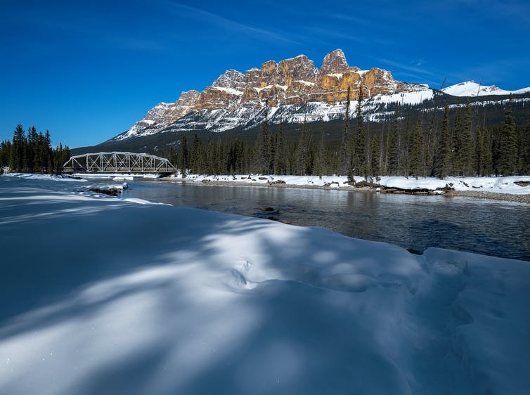 Bow River at Castle Mountain Junction, Banff National Park