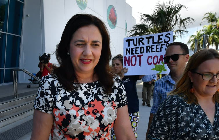 Annastacia Palaszczuk being heckled