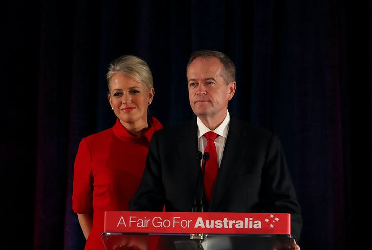 Bill Shorten and wife Chloe Shorten