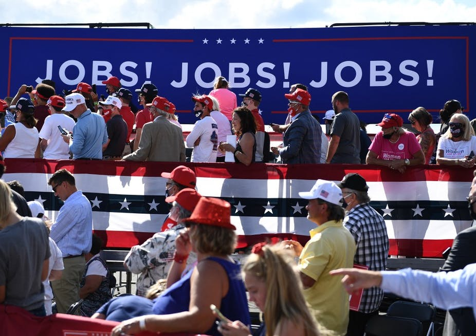 Attendees at an event for Donald Trump on August 17, 2020.