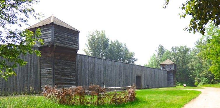 Walls of Fort Edmonton