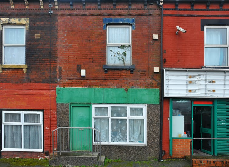 Run down terraced houses