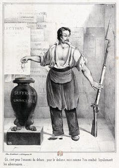 Le vote ou le fusil (référence), 1848