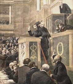 Séance scandaleuse à la Chambre des députés, 1898